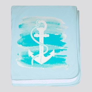 Watercolor Anchor baby blanket