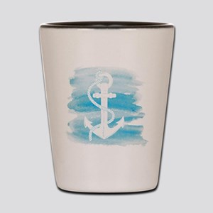 Watercolor Anchor Shot Glass