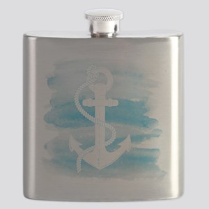 Watercolor Anchor Flask