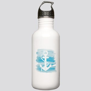 Watercolor Anchor Stainless Water Bottle 1.0L