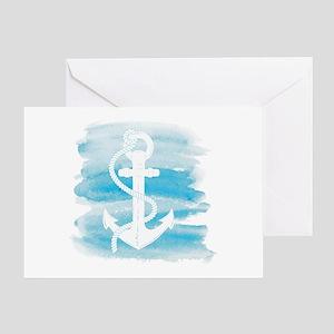 Watercolor Anchor Greeting Card