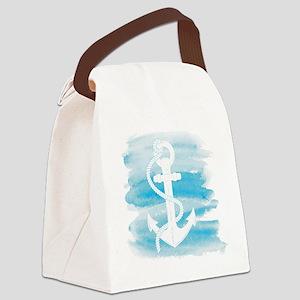 Watercolor Anchor Canvas Lunch Bag