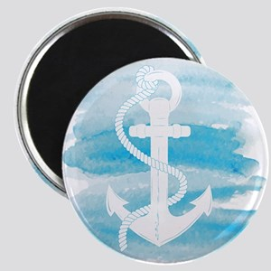 Watercolor Anchor Magnet