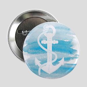 """Watercolor Anchor 2.25"""" Button"""