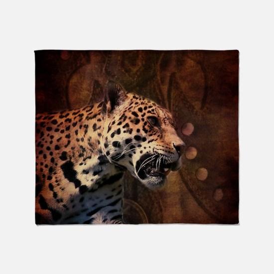rustic  wild safari leopard Throw Blanket