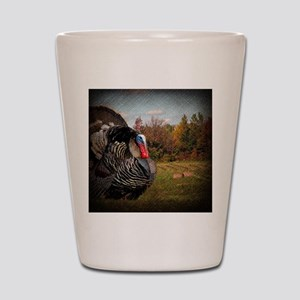 autumn landscape country turkey Shot Glass