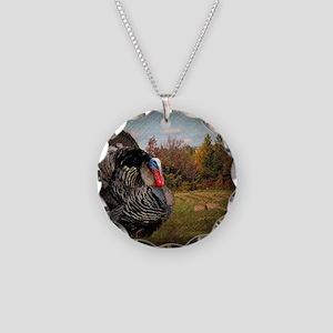 autumn landscape country tur Necklace Circle Charm