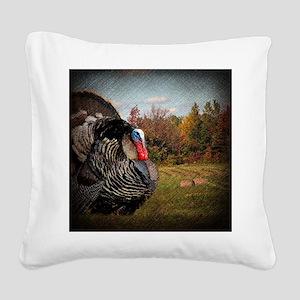 autumn landscape country turk Square Canvas Pillow