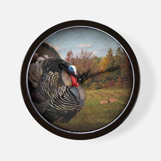 autumn landscape country turkey Wall Clock