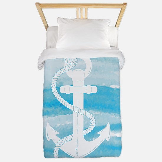 Watercolor Anchor Twin Duvet