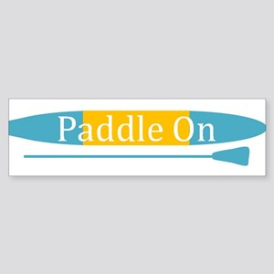 Paddle On Bumper Sticker