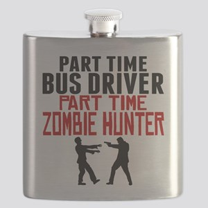 Bus Driver Part Time Zombie Hunter Flask