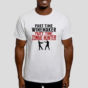 Winemaker Part Time Zombie Hunter T-Shirt