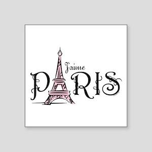 """J'aime Paris Square Sticker 3"""" X 3"""""""