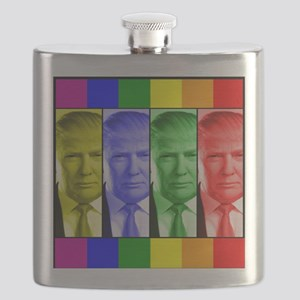 Trump Gay Pride Flask