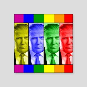 """Trump Gay Pride Square Sticker 3"""" x 3"""""""