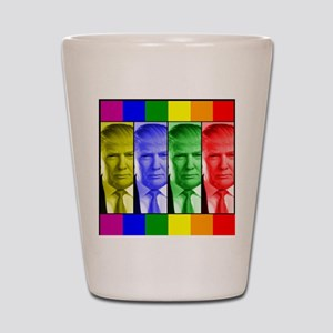 Trump Gay Pride Shot Glass