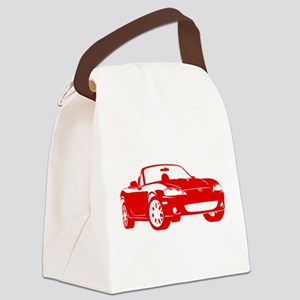 NB Red Canvas Lunch Bag