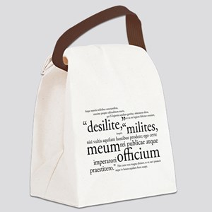 Desilite Milites (black) Canvas Lunch Bag