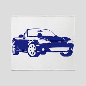 NB Blue Throw Blanket