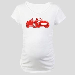 NC 1 Red Miata Maternity T-Shirt