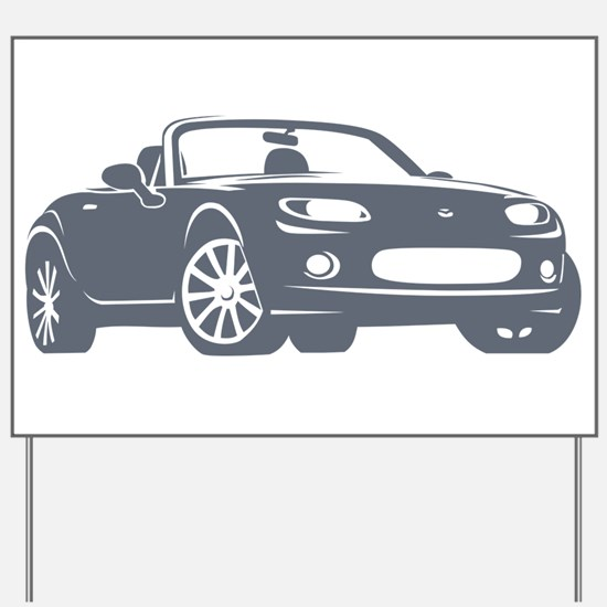 NC 1 Gray Miata Yard Sign