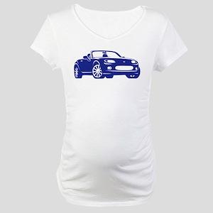 NC 1 Blue Miata Maternity T-Shirt