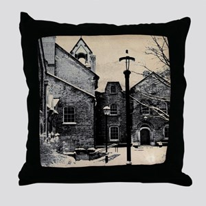 vintage church street light Throw Pillow