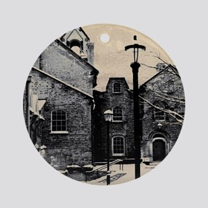 vintage church street light Round Ornament