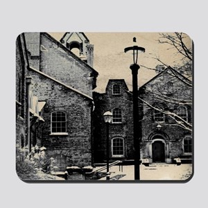 vintage church street light Mousepad
