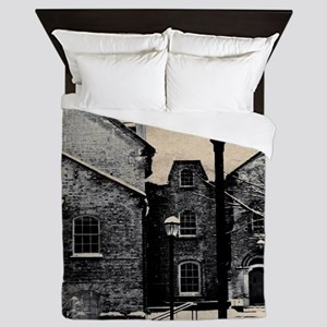vintage church street light Queen Duvet