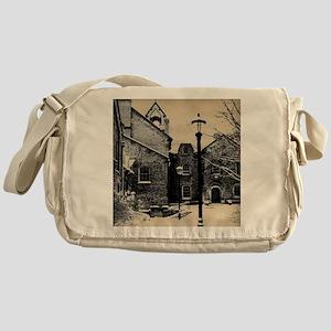 vintage church street light Messenger Bag