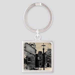 vintage church street light Square Keychain