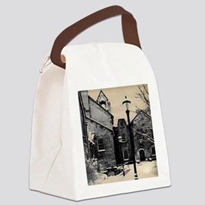 vintage church street light Canvas Lunch Bag