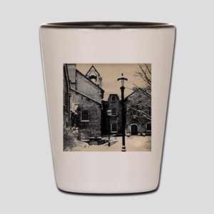 vintage church street light Shot Glass