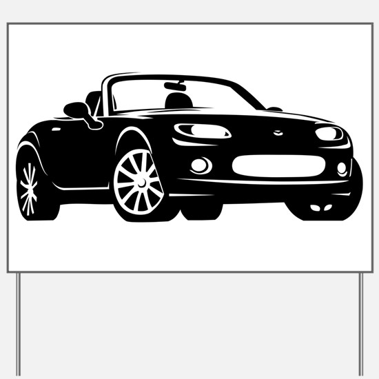 NC 1 Black Miata Yard Sign