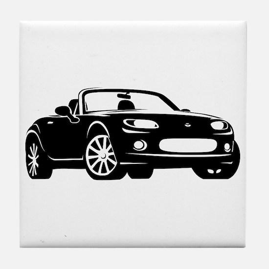 NC 1 Black Miata Tile Coaster