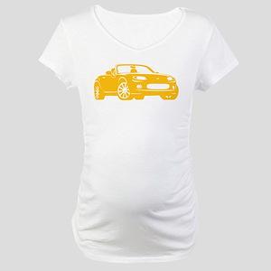 NC 1 Yellow Miata Maternity T-Shirt
