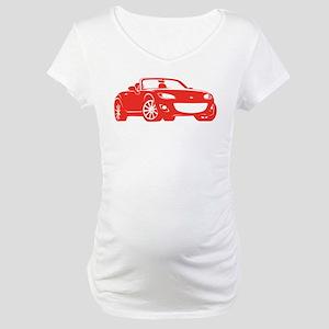 NC 2 Red Miata Maternity T-Shirt