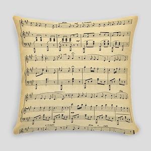 Antique Sheet Music Everyday Pillow