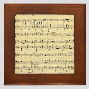 Antique Sheet Music Framed Tile