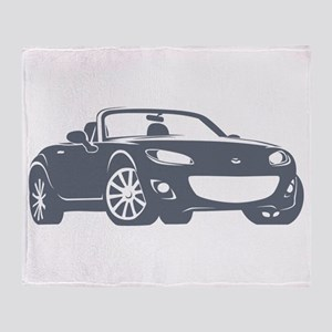 NC 2 Gray Miata Throw Blanket