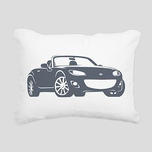 NC 2 Gray Miata Rectangular Canvas Pillow