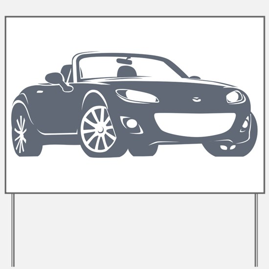 NC 2 Gray Miata Yard Sign