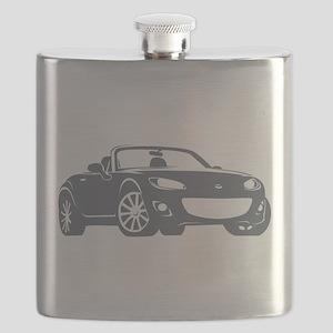 NC 2 Gray Miata Flask