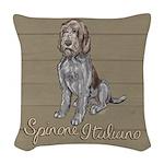 Spinone Italiano Woven Throw Pillow