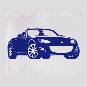 NC 2 Blue Miata Throw Blanket