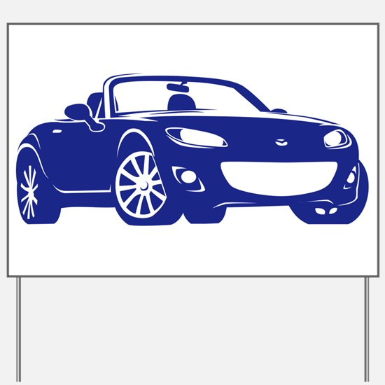 NC 2 Blue Miata Yard Sign