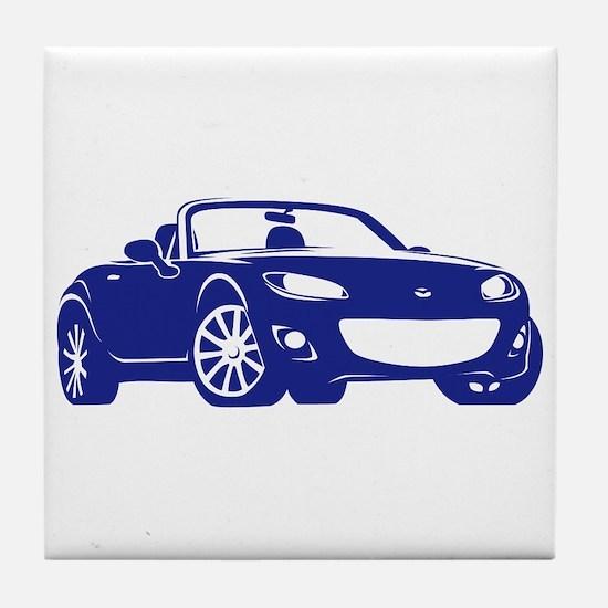 NC 2 Blue Miata Tile Coaster