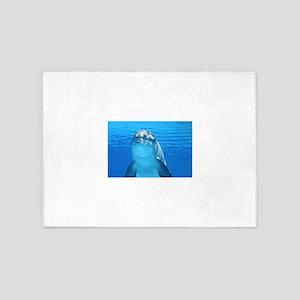Dolphin 001 5'x7'Area Rug